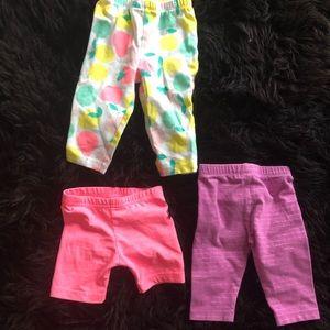 Summer leggings bundle baby girl 6 mo